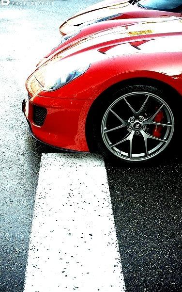 Ferrari 599 GTO and 458