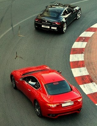 Maserati Granturismo and Fisker Karma